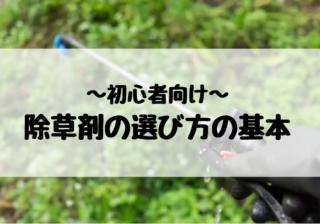 除草剤の選び方の基本