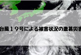 台風19号の被害状況と激甚災害