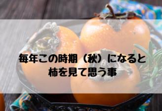 毎年この時期(秋)になると 柿を見て思う事 柿の活用