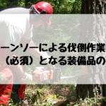 チェーンソーによる伐倒(伐木)作業に必要(必須)な装備品の要件について調べてみた